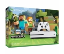 Microsoft Xbox One Slim 500GB, Alb + Minecraft