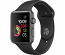 Apple Watch 2 42mm Space Grey Aluminium Case, Black Sport Band