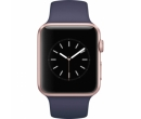 Apple Watch 1 42mm Rose Gold Aluminium Case, Midnight Blue Sport Band