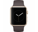 Apple Watch 1 42mm Gold Aluminium Case, Cocoa Sport Band