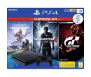 Sony ps4 slim ,1TB, Jet Black + 3 jocuri Horizon Zero Dawn, Uncharted 4, Gran Turismo Sport