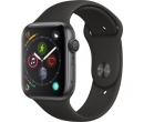 APPLE Watch Series 4 44mm Space Grey Aluminium Case, Black Sport Band